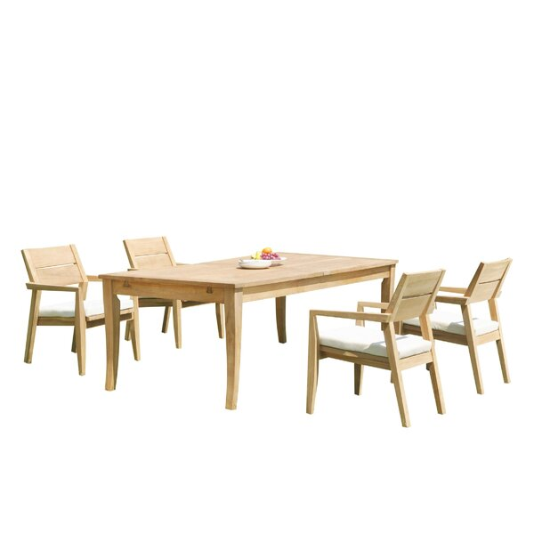 Atnas 5 Piece Teak Dining Set by Teak Smith