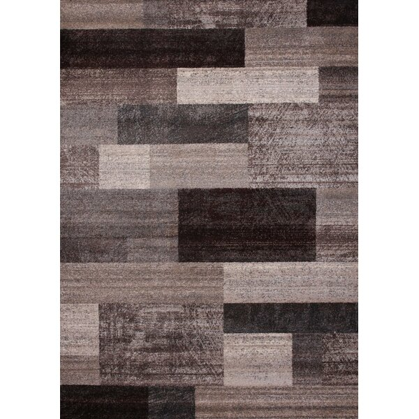 Chocolate/Ivory Area Rug by Latitude Run
