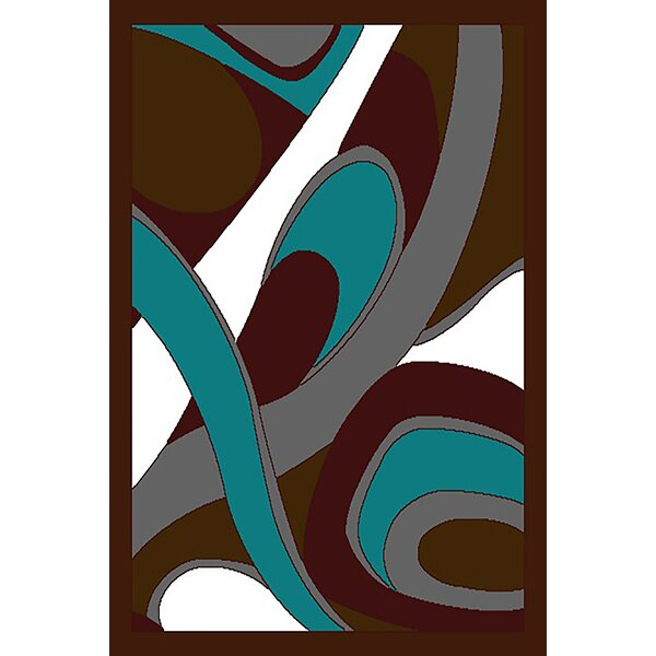 Cosner Brown/Turquoise Area Rug by Ebern Designs