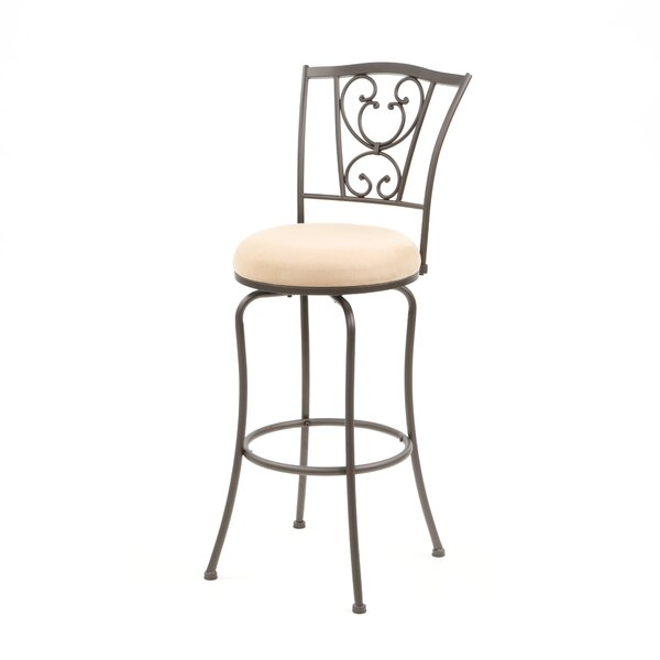 Kristine 30 Swivel Bar Stool by Fleur De Lis Living
