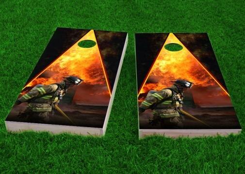 Firefighter Cornhole Game (Set of 2) by Custom Cornhole Boards