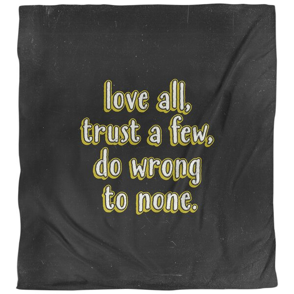 Quotes Do No Wrong Single Reversible Duvet Cover