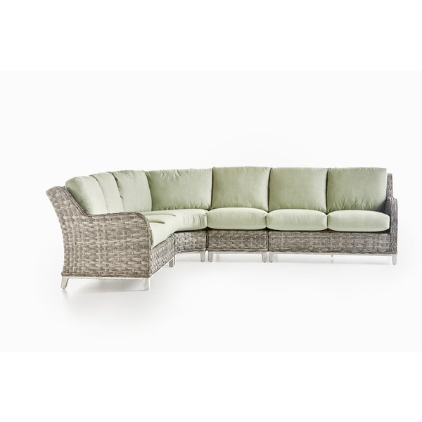 Varennes 5 Piece Sectional Seating Group With Cushions by Rosecliff Heights