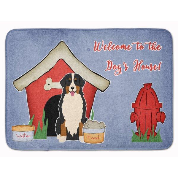Dog House Bernese Mountain Dog Rectangle Microfiber Non-Slip Bath Rug