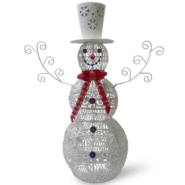 Metal Snowman Christmas Oversized Figurine by The Holiday Aisle