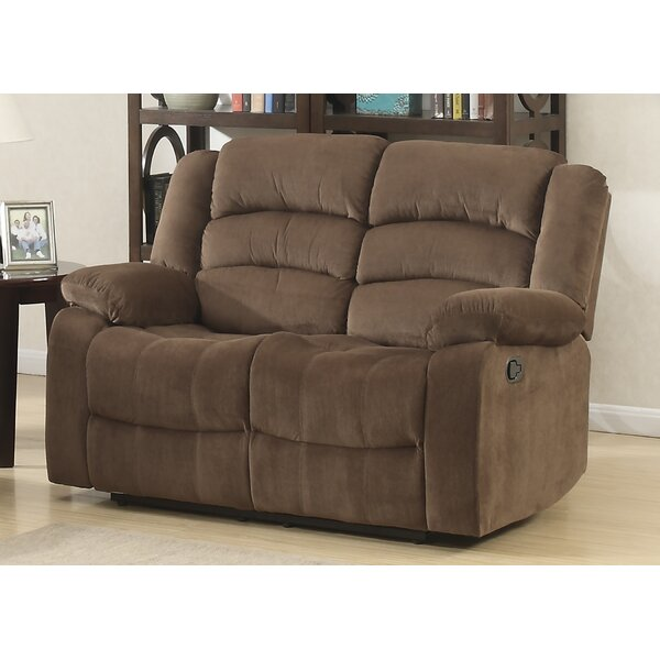Get Name Brand Kunkle Living Room Reclining Loveseat by Red Barrel Studio by Red Barrel Studio