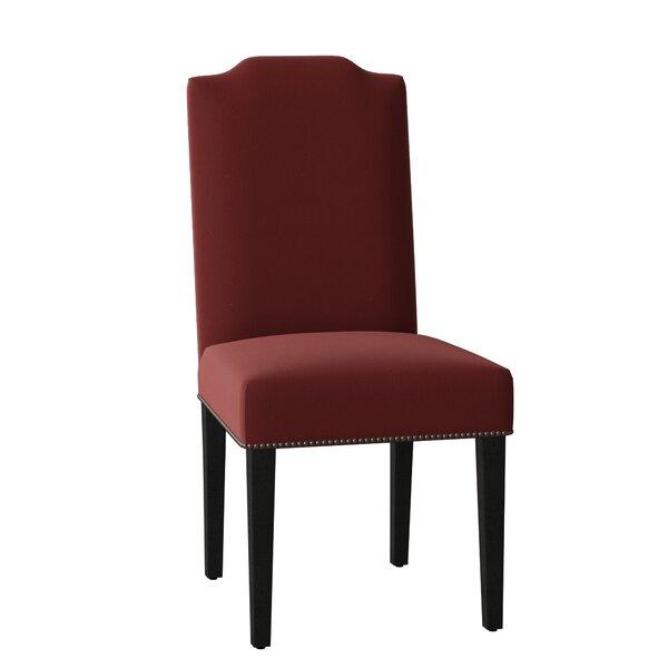 Vegas Leather Upholstered Dining Chair by Sloane Whitney Sloane Whitney