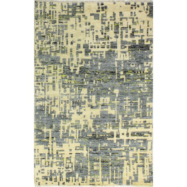 Jagtap Hand Knotted Cotton Cream/Gray Area Rug by 17 Stories