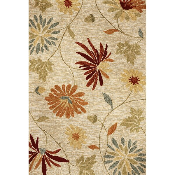 Winsford Sofia Hand-Hooked Beige Indoor/Outdoor Area Rug