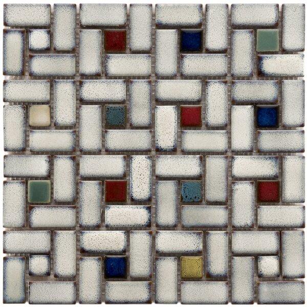Essentia 12 x 12 Porcelain Mosaic Tile in Glazed Cascade by EliteTile