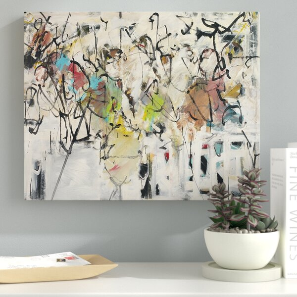 Abstract IX Framed Painting Print on Wrapped Canvas by Latitude Run