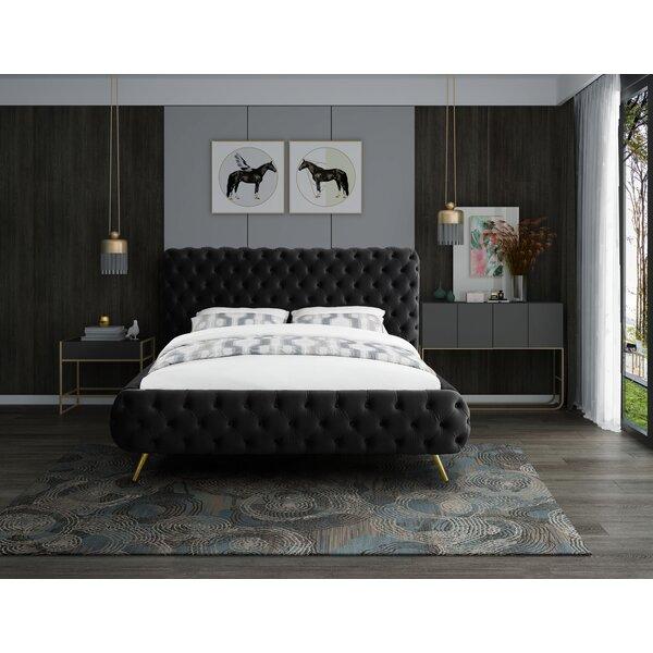 Eisner Upholstered Sleigh Bed by Everly Quinn
