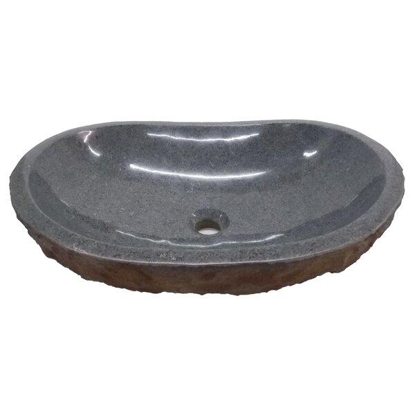 Padang Dark Granite Oval Vessel Bathroom Sink by Eden Bath
