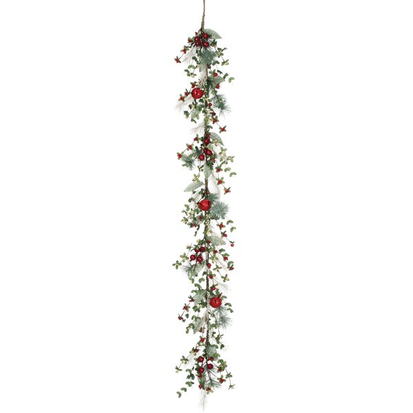 Pine/Berry/Bell Garland by Clover Lane