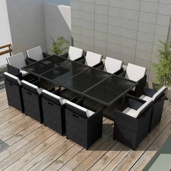 Roloff 13 Piece Dining Set with Cushions by Brayden Studio
