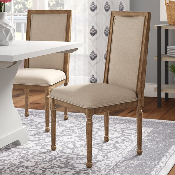 Nuneaton Upholstered Dining Chair (Set of 2) by Three Posts
