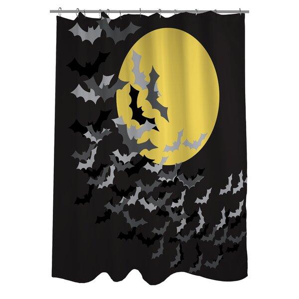 Flock of Bats Moon Shower Curtain by One Bella Casa