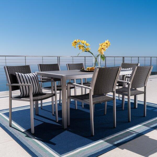 Royalston Aluminum 7 Piece Dining Set by Brayden Studio