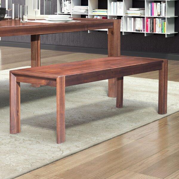 Riggleman Wood Bench by Brayden Studio