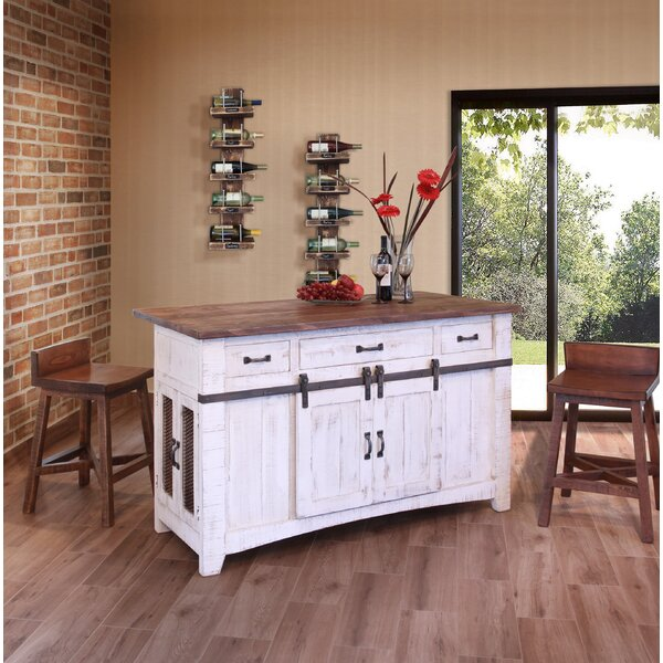 Coralie 3 Drawer Kitchen Island Set by Gracie Oaks