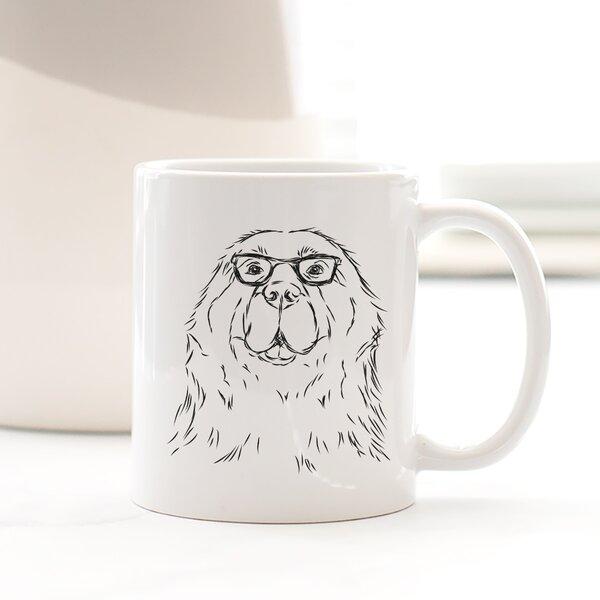 Crow Newfoundland Dog Coffee Mug by Wrought Studio