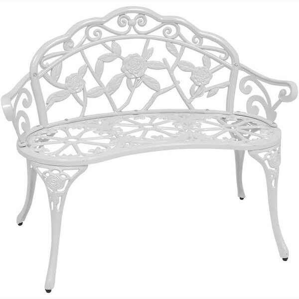 Encanto Rose Cast Iron and Cast Aluminum Garden Bench by August Grove