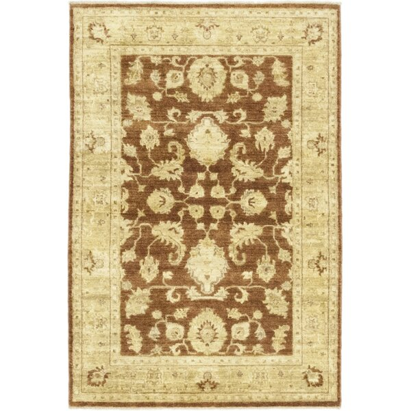 One-of-a-Kind Corrado Hand-Knotted Wool Brown/Gold Indoor Area Rug by Astoria Grand