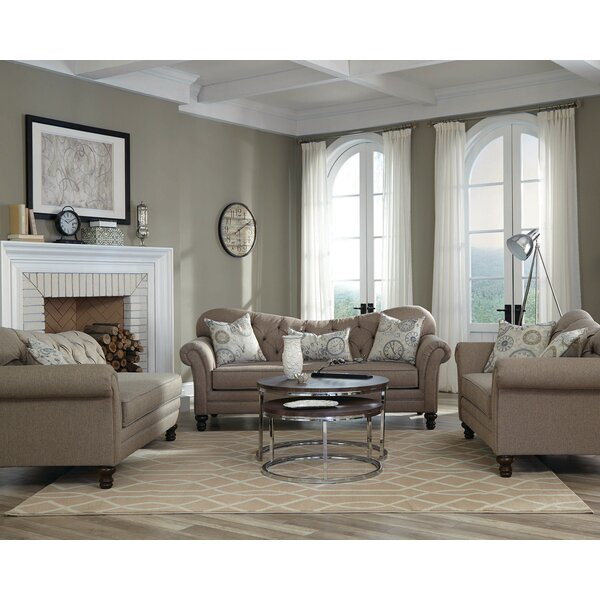Belle 3 Piece Living Room Set by One Allium Way