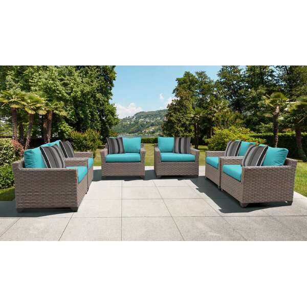 Rochford Patio Chair with Cushions (Set of 6) by Sol 72 Outdoor