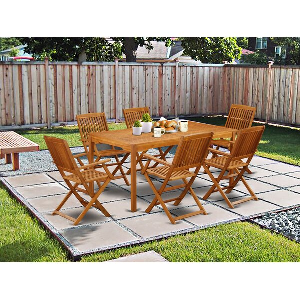 Justyn 7 Piece Patio Dining Set by Longshore Tides