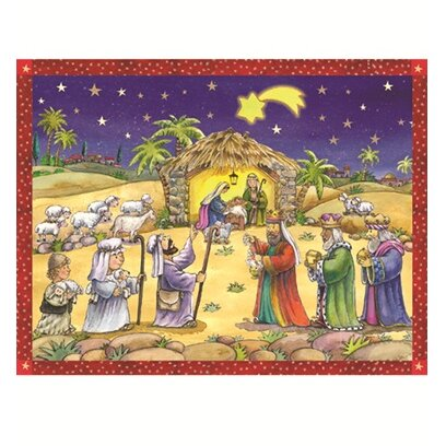 Sellmer Manger Scene Paper Advent Calendar by The Holiday Aisle