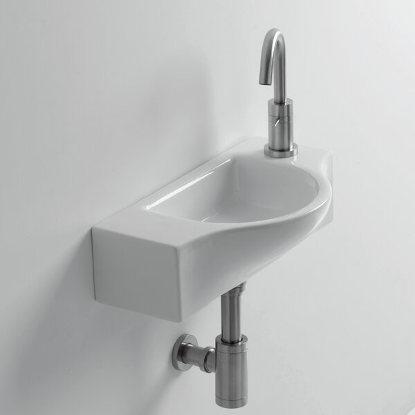 Whitestone Peta Ceramic 18 Wall Mount Bathroom Sink with Overflow by WS Bath Collections