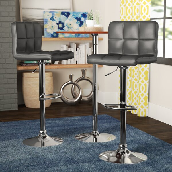 Winford Adjustable Height Swivel Bar Stool (Set of 2) by Latitude Run