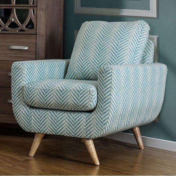 Huguenot Midcentury Modern Armchair by Brayden Studio