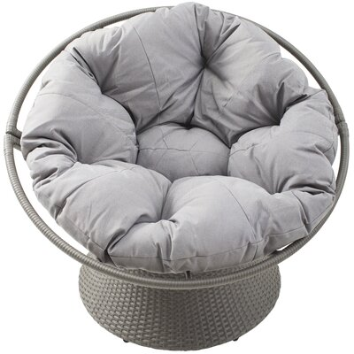 Charmant Baddeley Outdoor Distressed Synthetic Rattan Swivel Papasan Chair With  Cushion