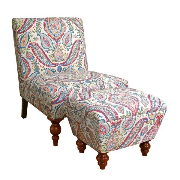 Yareli Slipper Chair and Ottoman by Mistana Mistana™