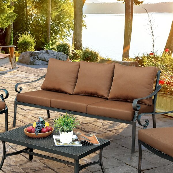 Dominque Patio Sofa with Cushions by Darby Home Co