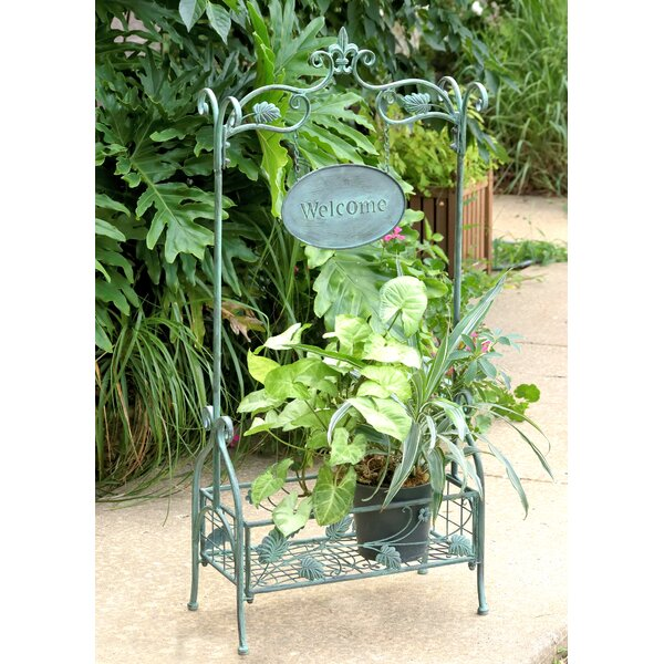 Arch and Welcome Sign Rectangular Planter Stand by Zaer Ltd International