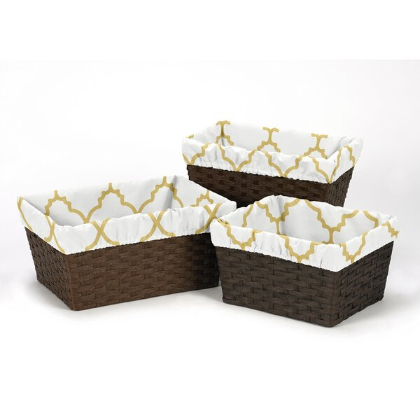 Ava Fabric 3 Piece Basket Liner Set by Sweet Jojo Designs