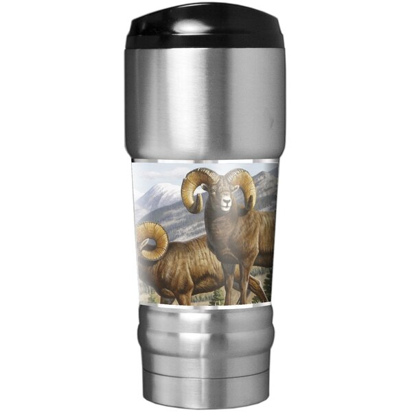 Big Horn Sheep Traditions 18 oz. Stainless Steel Travel Tumbler by Great American Products