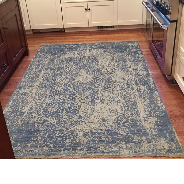 One-of-a-Kind Bagwell Broken Hand-Knotted Silk Area Rug by Isabelline