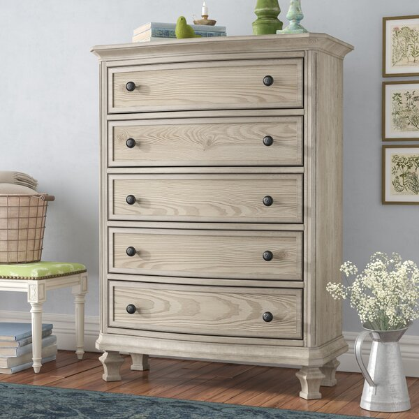 Bretenieres 5 Drawer Standard Dresser/Chest by Lark Manor