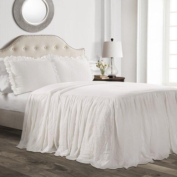 Arrington Ruffle Skirt 3 Piece Bedspread Set by House of Hampton