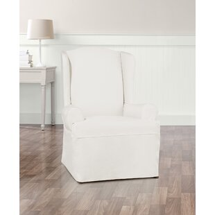 Essential Twill T-Cushion Wingback Slipcover