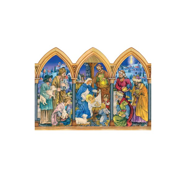 Sellmer Arched Nativity Scene Advent Calendar by The Holiday Aisle