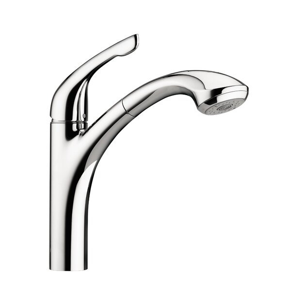 Allegro E One Handle Deck Mounted Kitchen Faucet with Pull Out Hand Spray by Hansgrohe