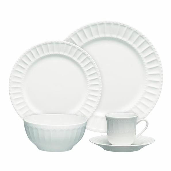 Gibson Regalia 20 Piece Dinnerware Set, Service for 4 by ABC Home Collection