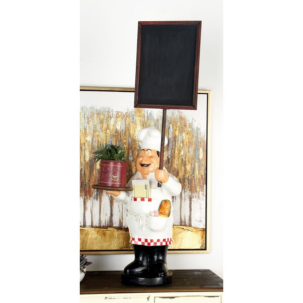 Polystone and Wood Chef Tabletop Chalkboard by Cole & Grey