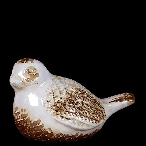 Antique Adorable Ceramic Bird Figurine by Woodland Imports