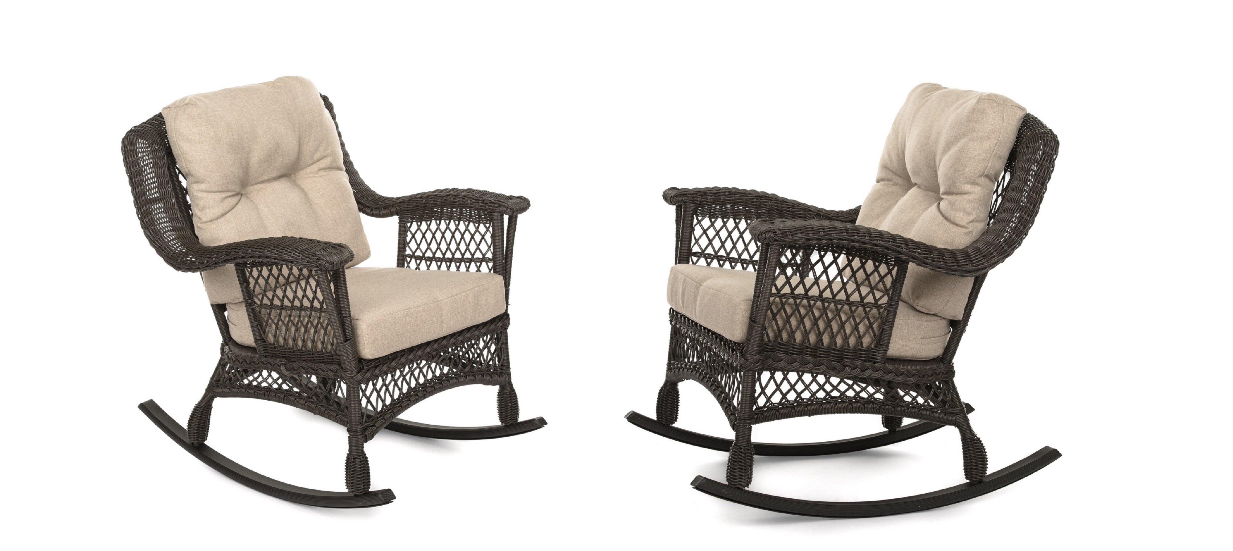 Demps Outdoor Garden Rocking Chair